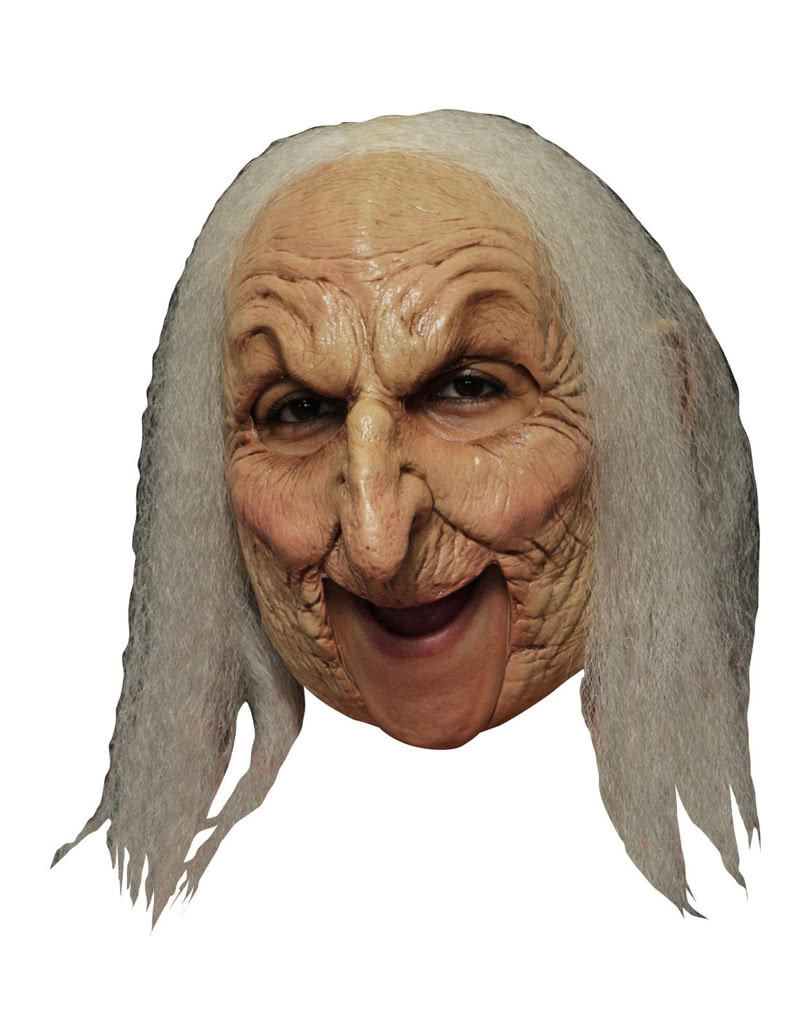 Old Witch mask with gray hair | Fairy Tale Masks for Halloween ...
