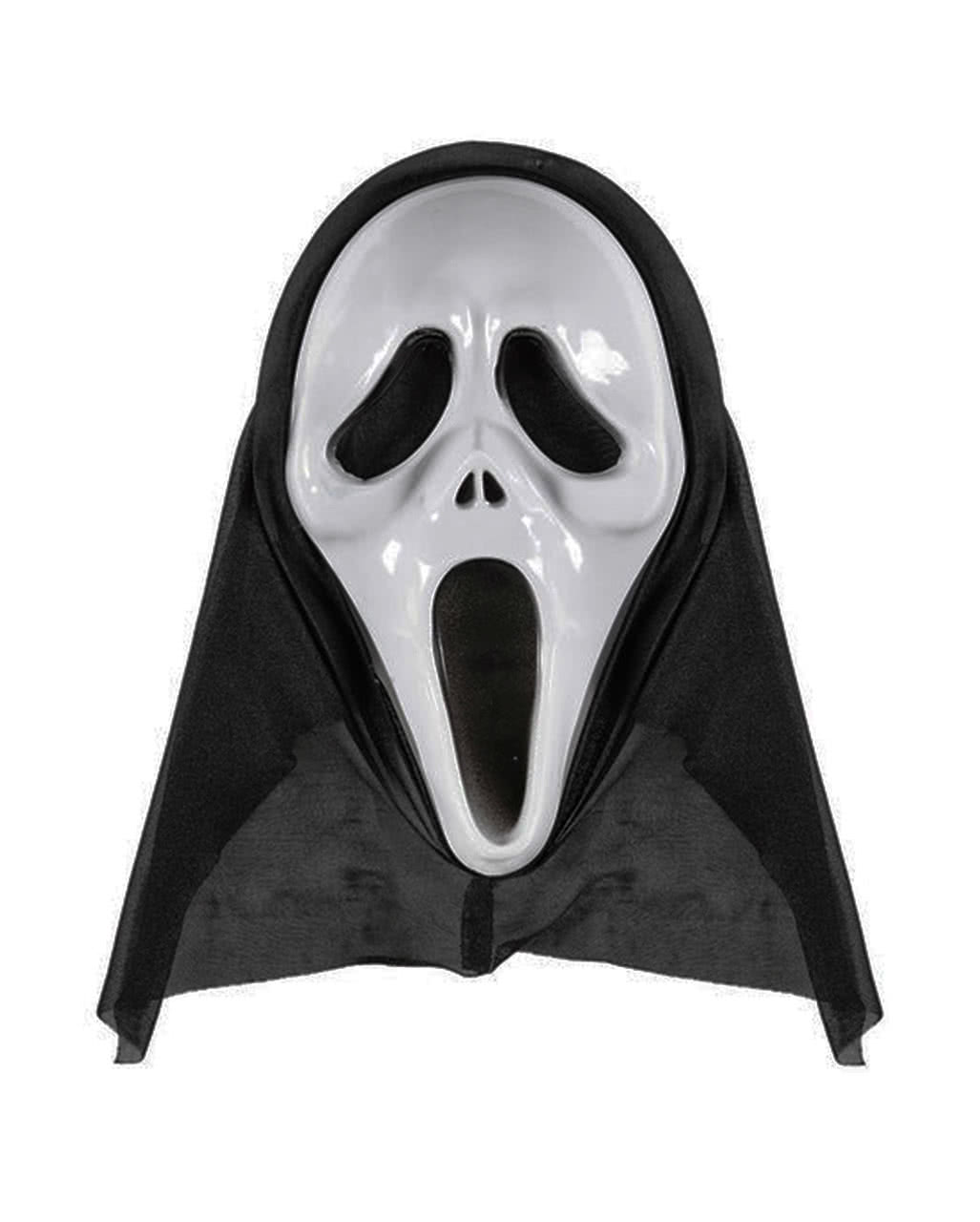 Screaming Ghost Mask | Halloween mask with hood | horror-shop.com