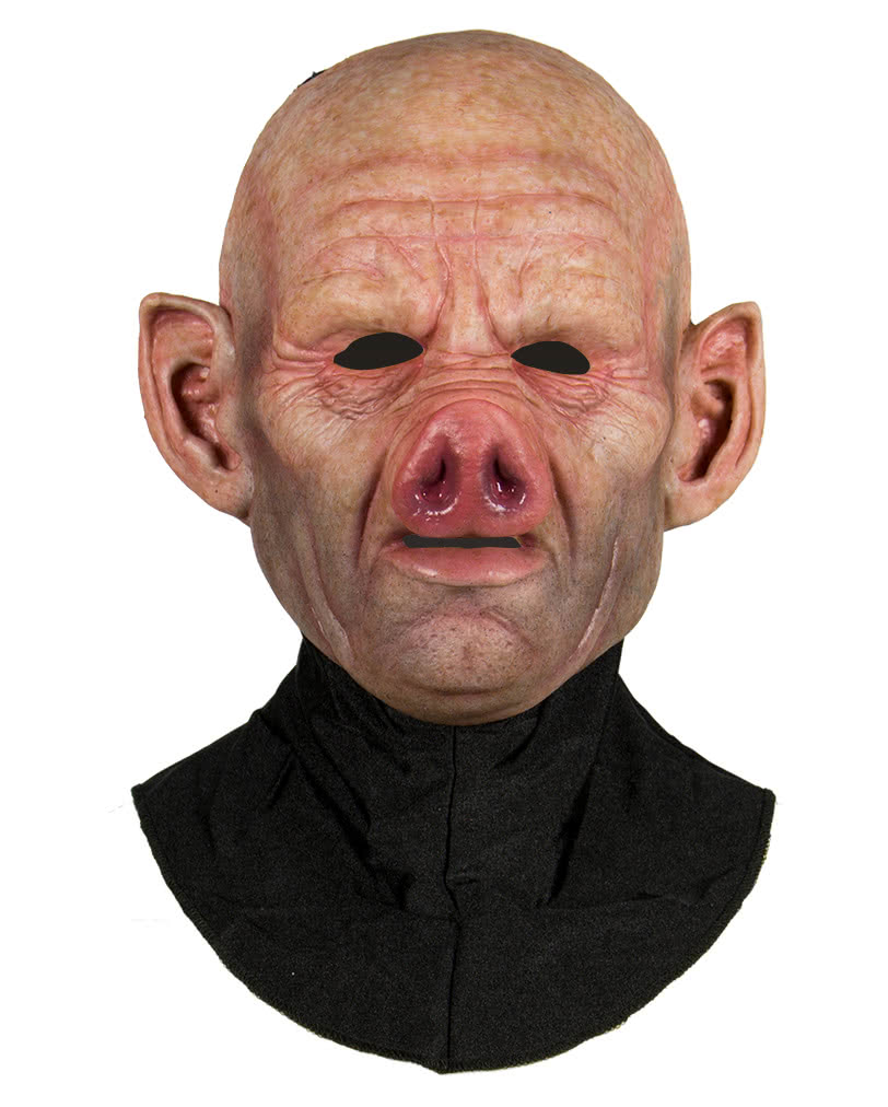 Silicone Half Mask Pig Animal mask for horror fans! | horror-shop.com