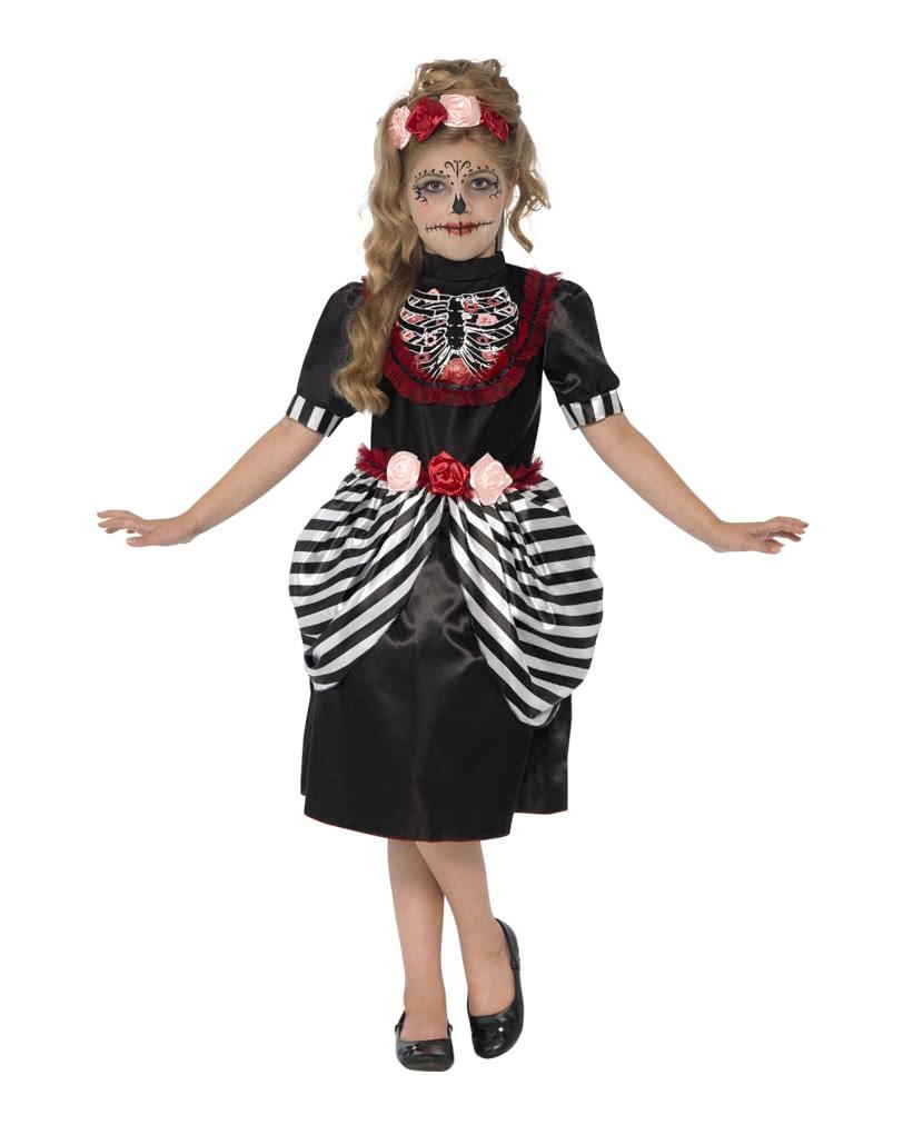 Sugar Skull Kids Costume   Day of the Dead costume for girls ...