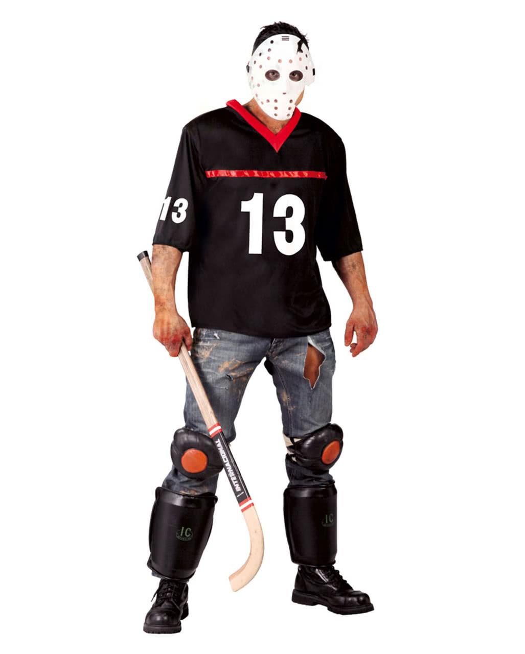 Hockey player costume with mask   Serial Killer Halloween Costume ...