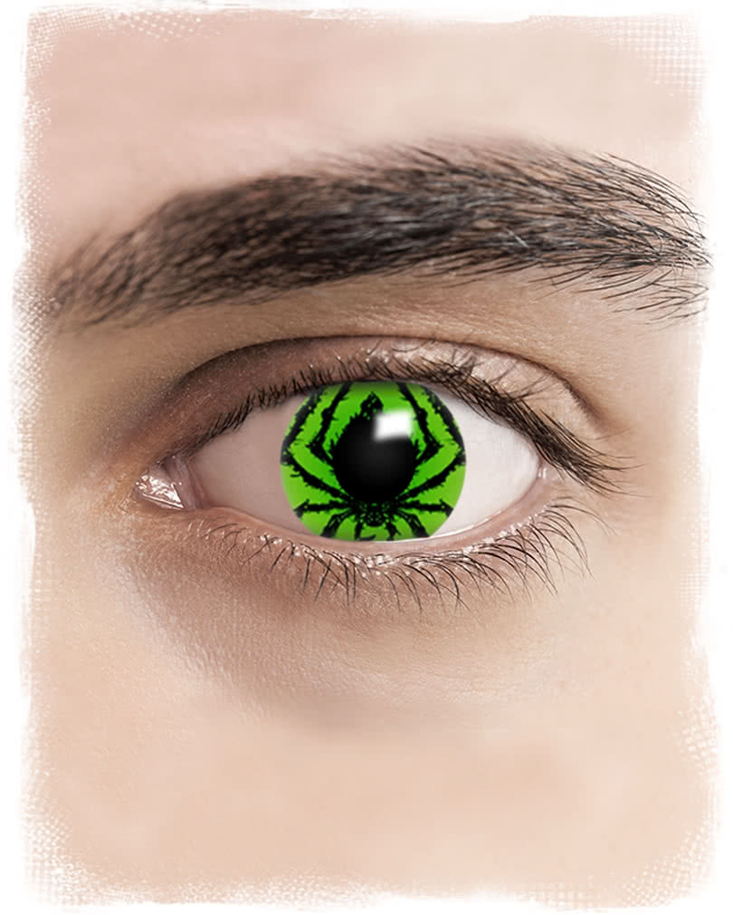 Spider contact lenses | Poison green contact lenses for Halloween ...