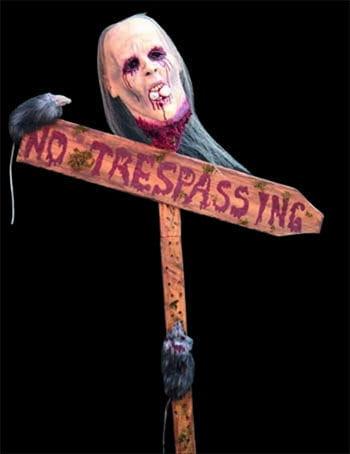 No Trespassing Wegweiser