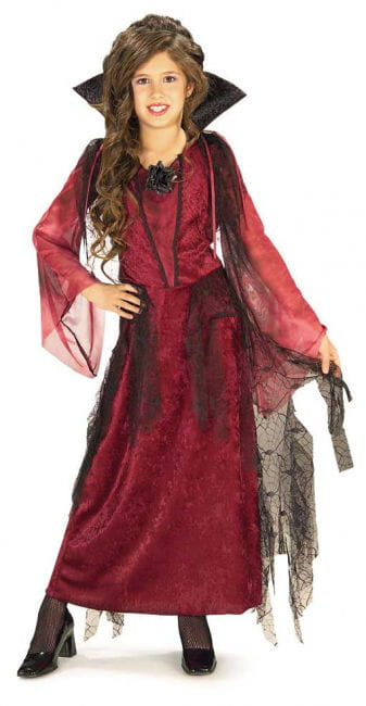 Gothic Vampire Lady Child Costume Large