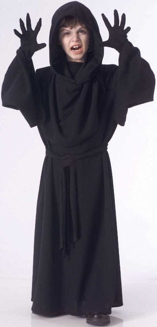 Black Hooded Children's Costume Gr. M