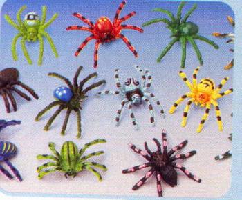 Spinnen Bunt 12St.
