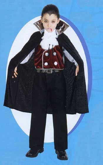Count Dracula Child Costume DLX 10-12 Years