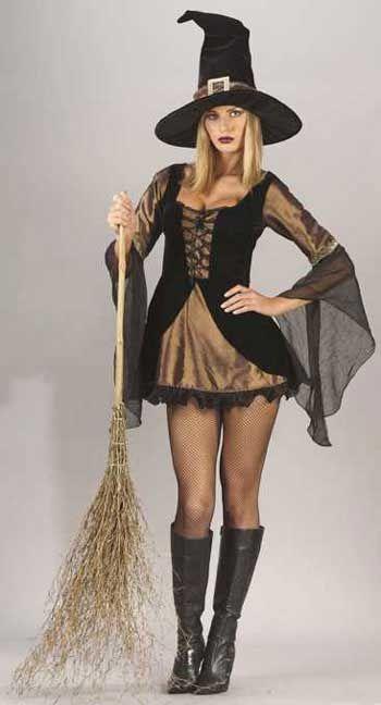 Sexy Golden Witch Kostüm