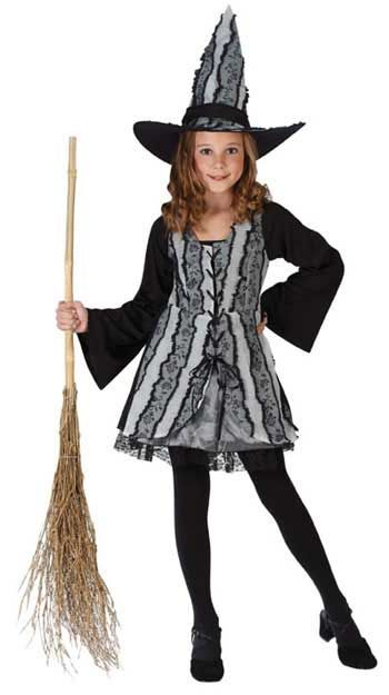 Gothic Rose Witch Child Costume. S