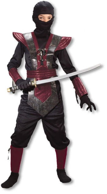 Ninja Fighter Kids Costume red M