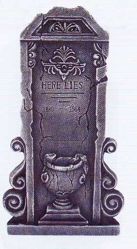 Tombstone With Urn