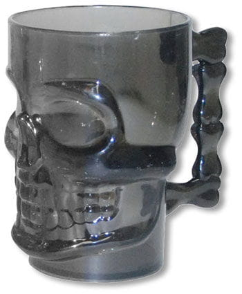 Crystal Clear Skull Beer Mug