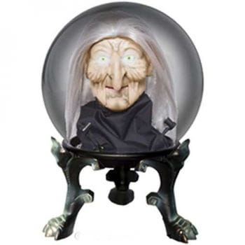 Crystal Ball with Witch Head Small