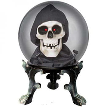 Crystal Ball with Skull Small