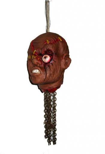Shaking Shrunken Head with Bulging Eye, Animatronic