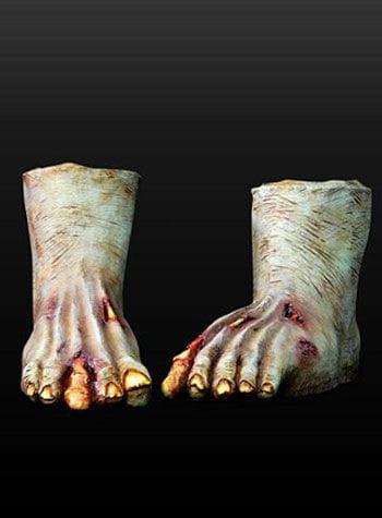 Zombie-Füße aus Latex Dunkel