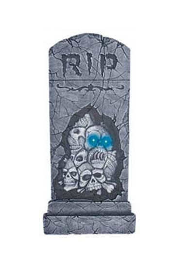Tombstone with Skulls and LEDs