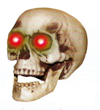Shaking Skull with LED Eyes