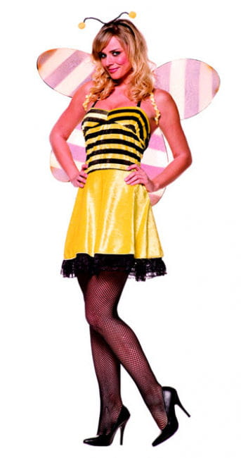 freche Honig Biene Premium Kostüm Gr. L / 40
