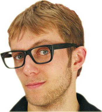 Schwarzes Brillengestell ohne Gläser
