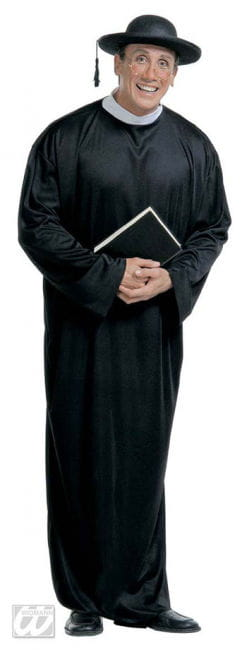 Priest Monsignor Costume black Gr. S