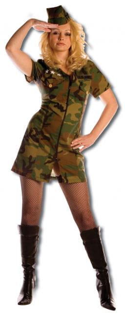Sharp Army Girl Premium Costume Gr. XL