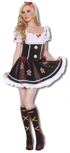Delicious Gingerbread Girl Premium Costume Small