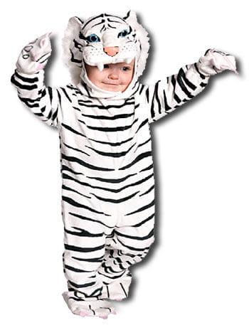 Cuddly White Tiger Toddler Costume XL
