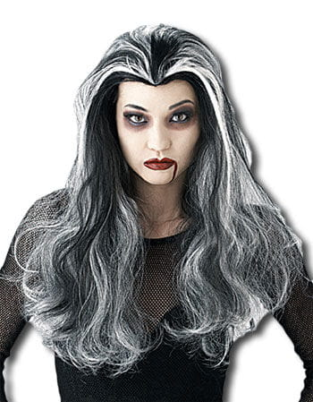 Vampiress Wig Black and White