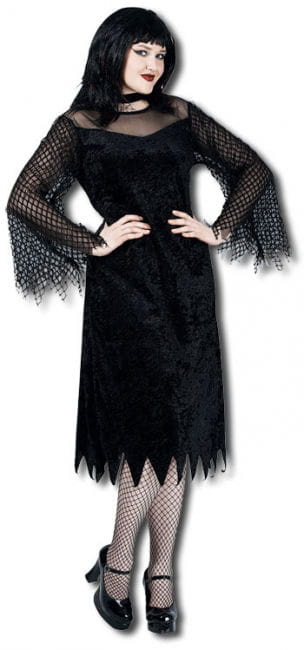 Vamp Robe Mesh Sleeve Costume XL