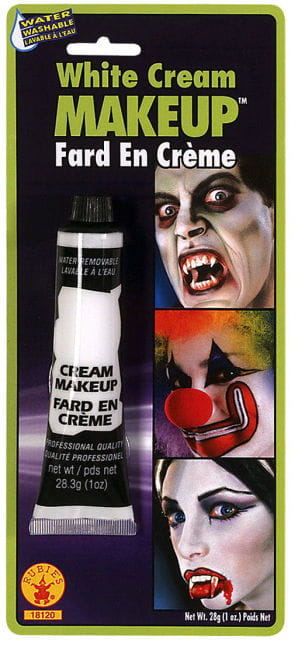 Cream Make Up White in the Tube