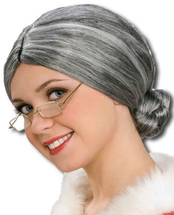 Grey granny wig with node