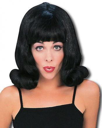 Flip Wig Black 60s Style