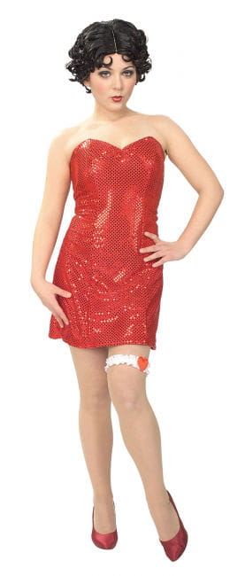 Betty Boop Sequins Minikleid Gr. S 36