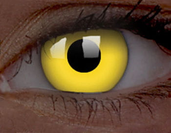 Contact lenses yellow UV active