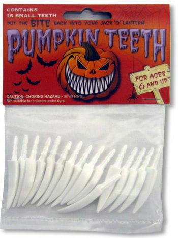 Pumpkin Teeth Small White
