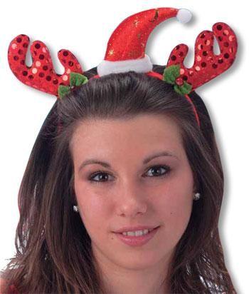 Roter Weihnachts Haarreif