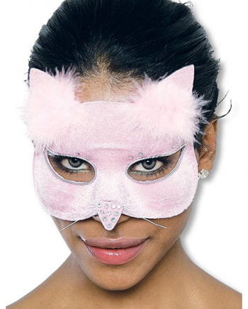 Glamour Katzenmaske samt rosa