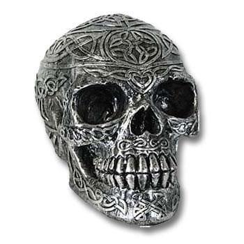 Totenschädel Kelten Design silber
