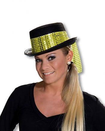 Damenzylinder mit goldenem Hutband
