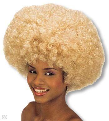 Krause Afro Perücke Blond