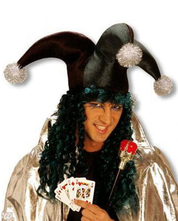 Jolly Jester Hat with Hair Green