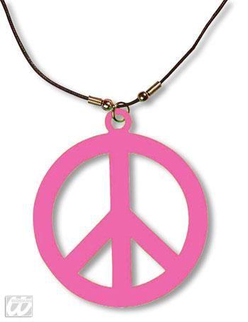 Plastic Hippie necklace pink
