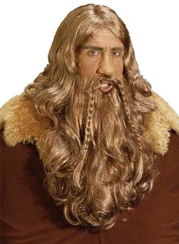 Viking Wig and Beard Chestnut Brown