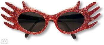 Space Jam Glitter Sunglasses Red