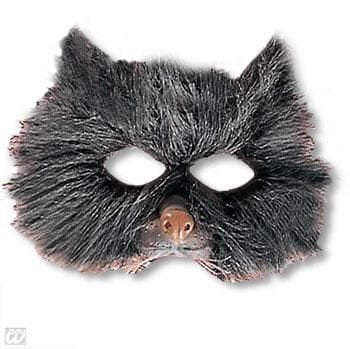 Children mask cat with plush