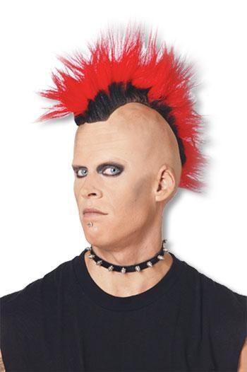 Mohawk Punk Perücke rot