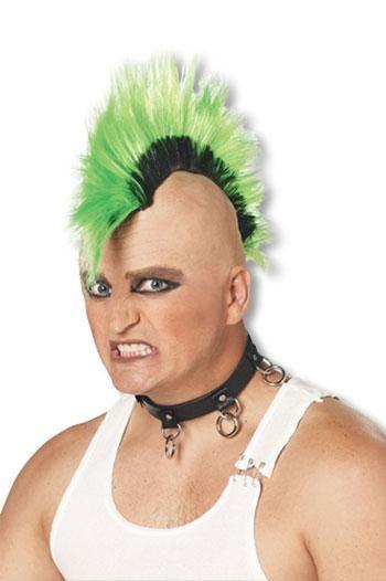 Mohawk Punk Wig Green