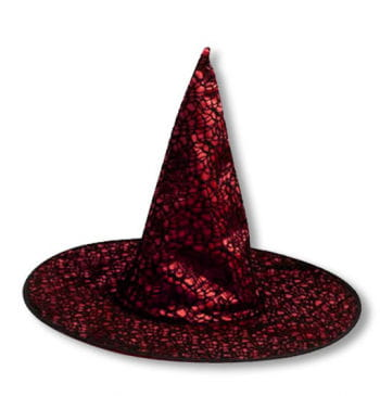 Gothic Witch Hat Red
