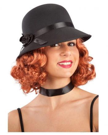 20s Charleston Pot Hat With Rose